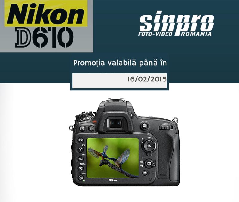 Nikon D610 in promotie!