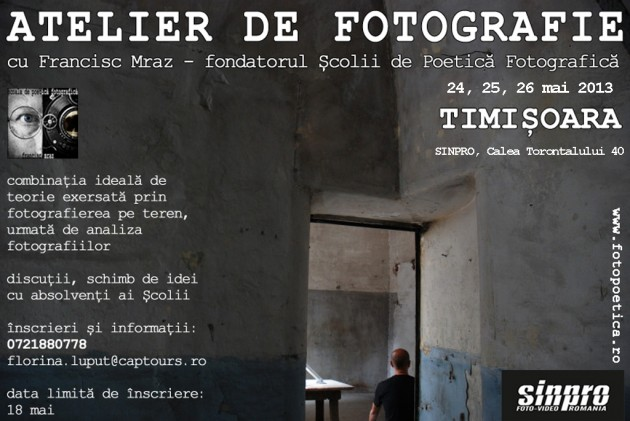 Atelier de Fotografie cu Francisc Mraz la SinPRO