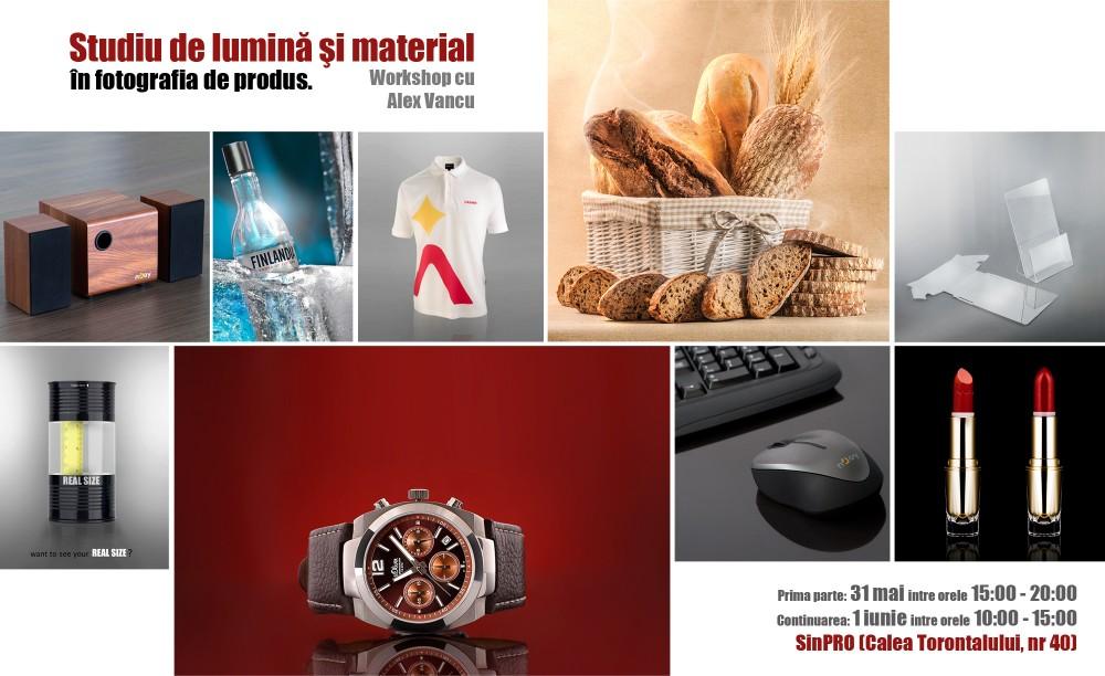 Studiu de Lumină şi Material în Fotografia de Produs – Workshop cu Alex Vancu la SinPRO